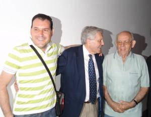 Con Carlos Jiménez Villarejo (en el centro) y Virgilio Peña.