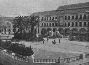 El Paseo y el cuartel de la Guardia Civil de Baena.