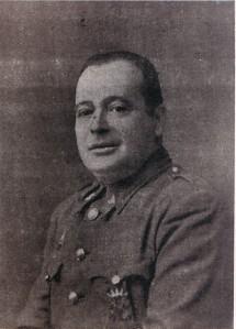 """El teniente de la Guardia Civil Luis Castro Samaniego """"Teniente Polvorilla"""", uno de los puntales más sólidos del golpe de Estado en Lucena el 18 de julio de 1936."""