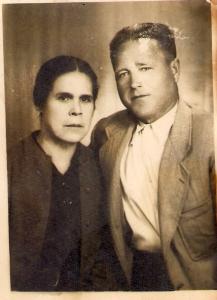 Luis Delgado Baltanas y Juana Sanchez 1957