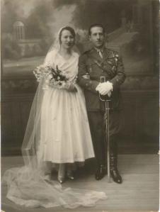Manuel Tarazona Anaya el día de su boda con Josefina Ortega San Emeterio, con la que se casó en 1930.