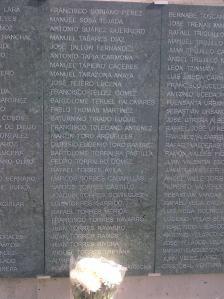 El nombre de Manuel Tarazona Anaya aparece en el monolito en recuerdo de las víctimas de la represión franquista que se inauguró en el cementerio de San Rafael de Córdoba en el año 2011.