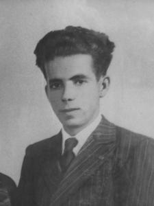 Juan Pelagio Rojas Roldán, de 26 años, asesinado el 28 de agosto de 1936 en La Pililla, tras volver de Cuevas de San Marcos.