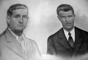 El jornalero Rafael Roldán Arcos (izquierda), de 34 años, fusilado el 1 de agosto de 1936. Su hermano Francisco (derecha) murió al finalizar la contienda en un campo de concentración en Málaga.