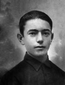 El camarero Benjamín Ansio Rídez, de 17 años, asesinado el 25 de julio de 1936.